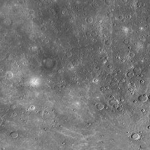 Map of Mercury (B&W)