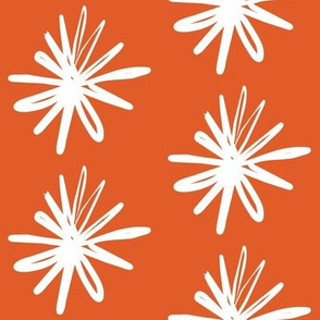 Floral Asterix Citrus Snow