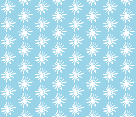 Floral Asterix Icey Ocean fabric by smuk on Spoonflower - custom fabric