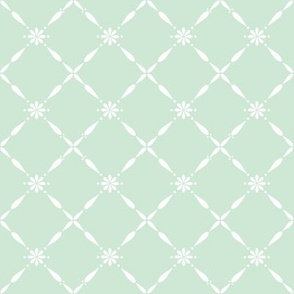 Charlotte Farmhouse Diamond, Pale Duckegg Green