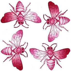 Bees of Jupiter in Red