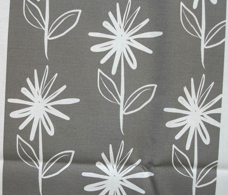 Floral Asterix Flower Stem Grey