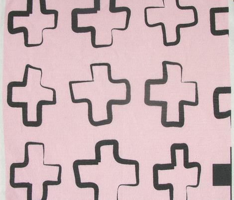 Hollow Cross PinkBlack