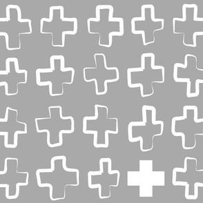 Hollow Crosses GreyWhite
