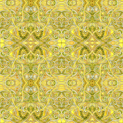 Lemon Lime Paisley Time fabric by edsel2084 on Spoonflower - custom fabric