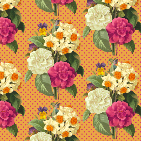 Bouquet fabric by chantal_pare on Spoonflower - custom fabric