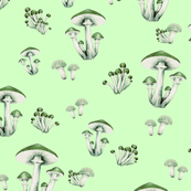 Forest Floor in Lime Green