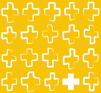Hollow Crosses Yellowhite