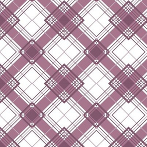 Plaid Mauve