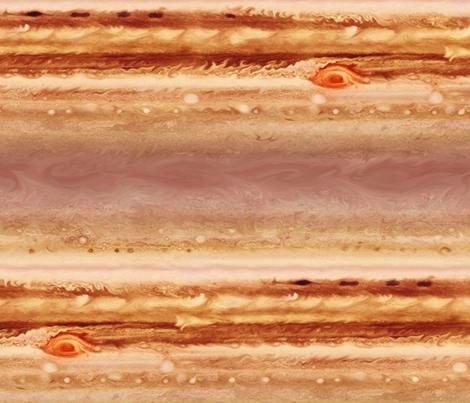 Map of Jupiter fabric by weavingmajor on Spoonflower - custom fabric