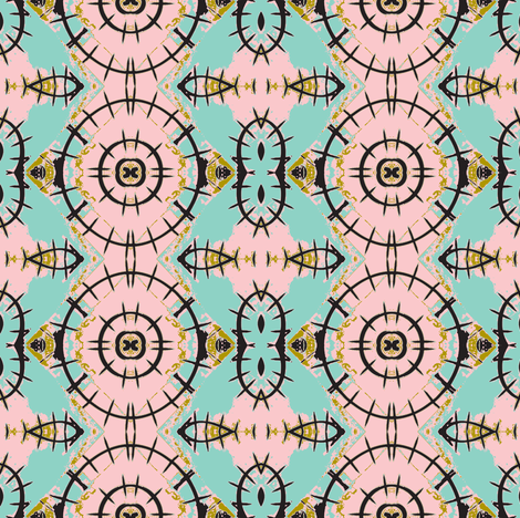 Broken Spoke, Baby Wheels fabric by susaninparis on Spoonflower - custom fabric
