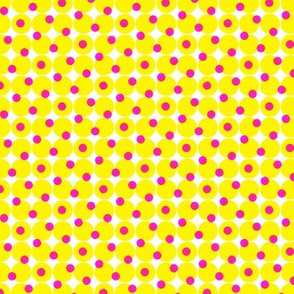 halftone dots - yellow and hot pink