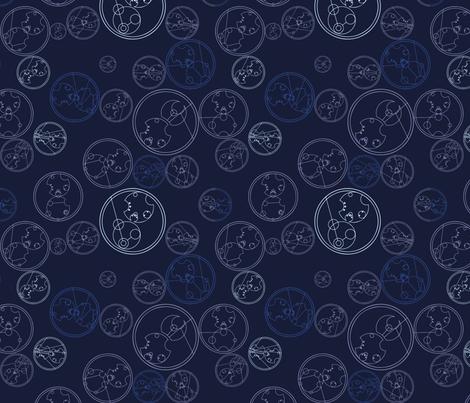 Timey Wimey - TimeVortex - 06 - the name fabric by aliceelettrica on Spoonflower - custom fabric