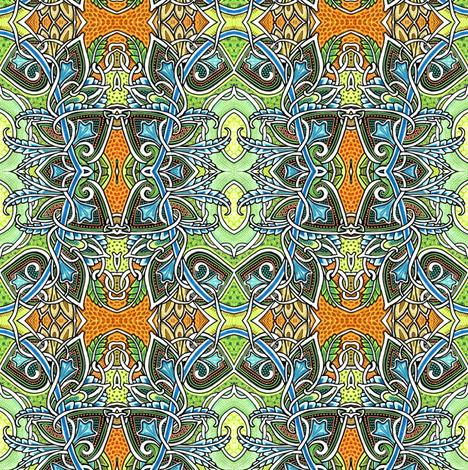 Spadeflower Sunrise fabric by edsel2084 on Spoonflower - custom fabric
