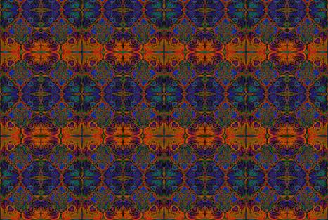 Floral Fantasy fabric by guylas_coastal_creations on Spoonflower - custom fabric