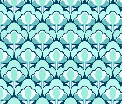 cloudyflower4 fabric by myracle on Spoonflower - custom fabric