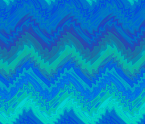 blue flame chevron fabric by weavingmajor on Spoonflower - custom fabric