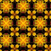 Black and orange oriental pattern