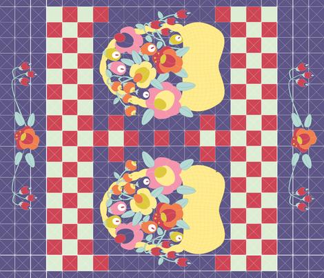 flowerbasket fabric by chooks on Spoonflower - custom fabric