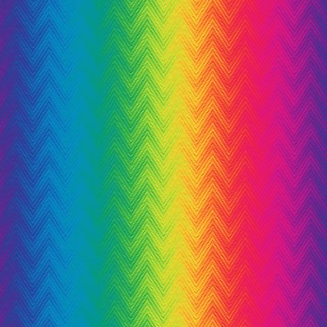 rainbow feather chevron fabric by weavingmajor on Spoonflower - custom fabric