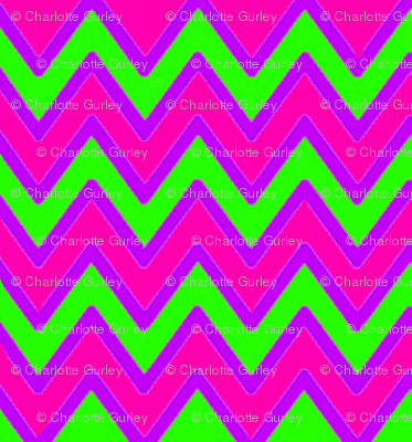 Green Pink Purple Chevron