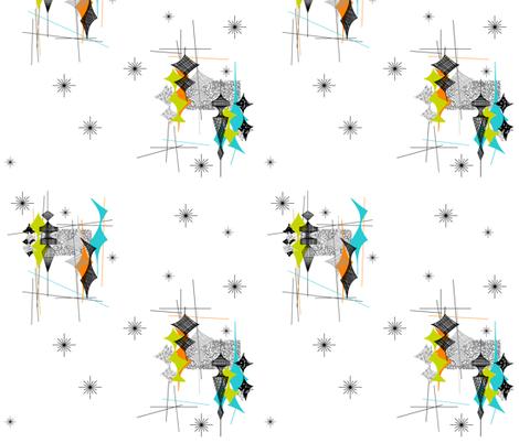 Diamand - Lime/Orange/Aqua fabric by tonyanewton on Spoonflower - custom fabric