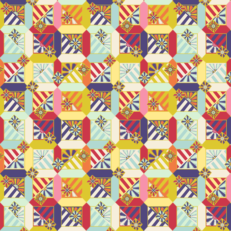 Floral Abstract Micro Quilt fabric by glimmericks on Spoonflower - custom fabric