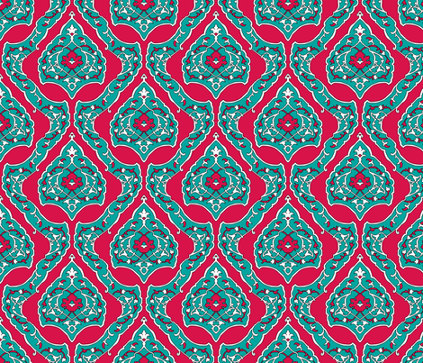 16th Century Carpet Drop Repeat fabric by pond_ripple on Spoonflower - custom fabric