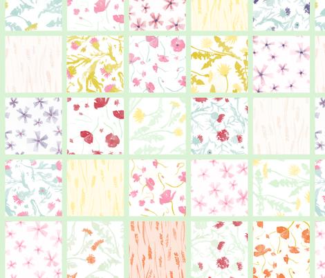 Fiori di campo cheater quilt fabric by aliceelettrica on Spoonflower - custom fabric