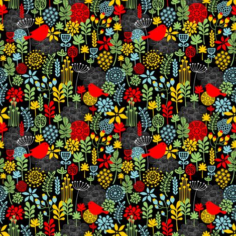 Red bird. fabric by panova on Spoonflower - custom fabric