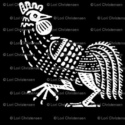 rooster strut black