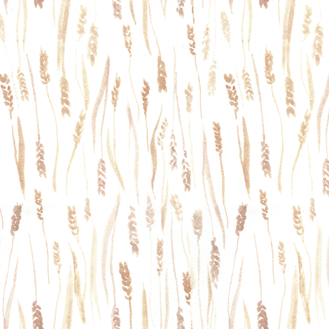 Wheat Watercolor fabric by aliceelettrica on Spoonflower - custom fabric