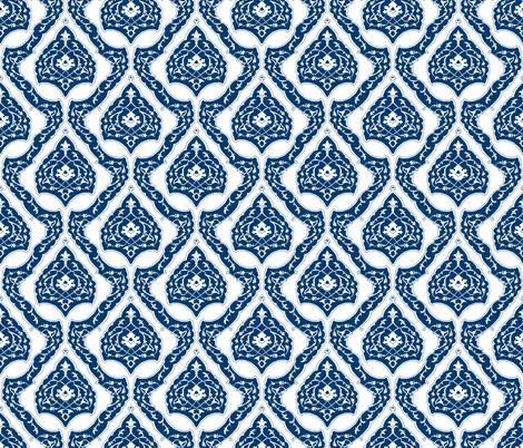 16th Century Carpet Drop Repeat China Blue fabric by pond_ripple on Spoonflower - custom fabric