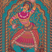 indian dancer turquoise
