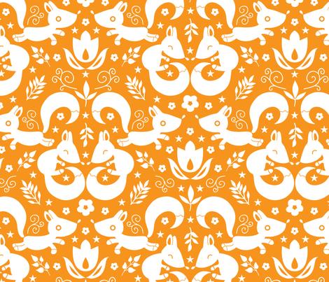 Cute ornamental foxes fabric by oksancia on Spoonflower - custom fabric