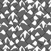 Mountain peaks gray