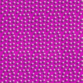 golf balls on a pink lawn