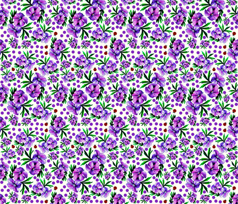 Violets fabric by whimzwhirled on Spoonflower - custom fabric