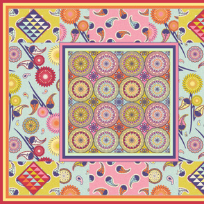 BOHO QUILT (Restricted palette)