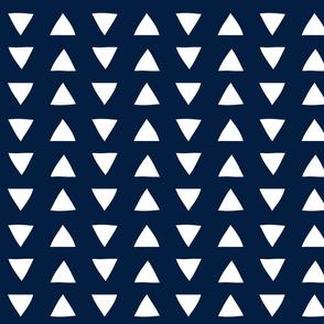 hand drawn triangles navy