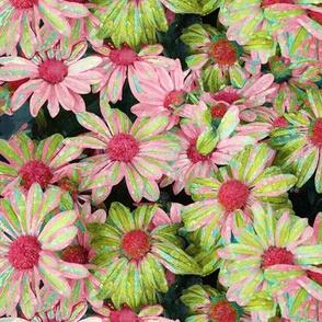 Pink & Green Mums