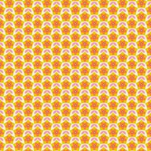 Pentagon Floral Diaper in Spring Floral Quilt Block palette  v1