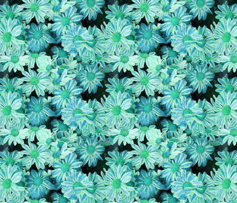 Blue Mums fabric by chantal_pare on Spoonflower - custom fabric