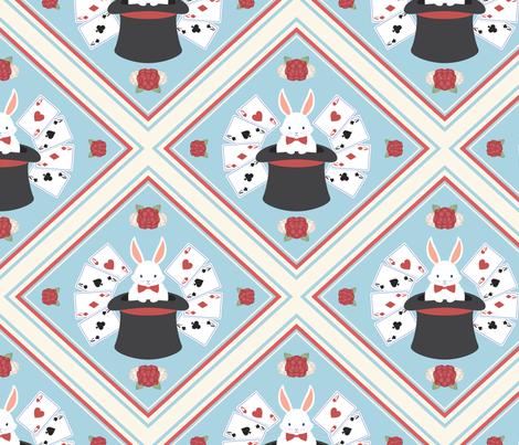 Wonderland Magic Show fabric by lunasol on Spoonflower - custom fabric
