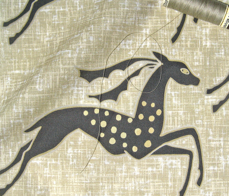 Tame galloping gazelles on fawn by Su_G