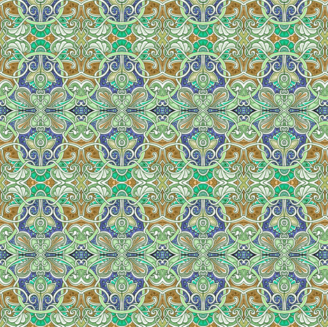 Inspired By William Morris fabric by edsel2084 on Spoonflower - custom fabric