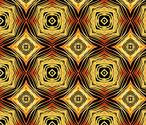 Golden Reverberation 16up fabric by feather_rishi on Spoonflower - custom fabric