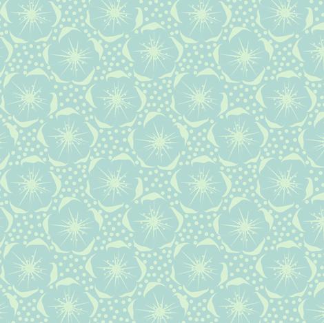 Blossom - blue fabric by moirarae on Spoonflower - custom fabric