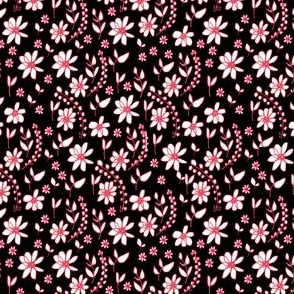 Folk Flowers black