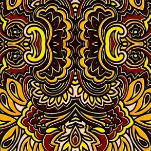 Earth tone paisley